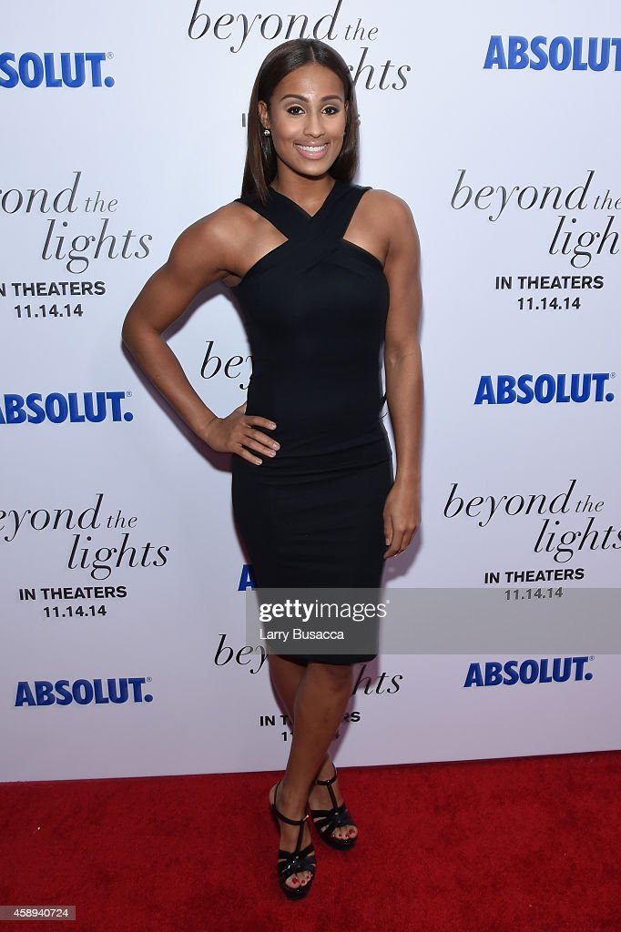 Basketball player <a gi-track='captionPersonalityLinkClicked' href=/galleries/search?phrase=Skylar+Diggins&family=editorial&specificpeople=5791961 ng-click='$event.stopPropagation()'>Skylar Diggins</a> attends The New York Premiere Of Relativity Media's 'Beyond the Lights' at Regal Union Square Stadium on November 13, 2014 in New York City.
