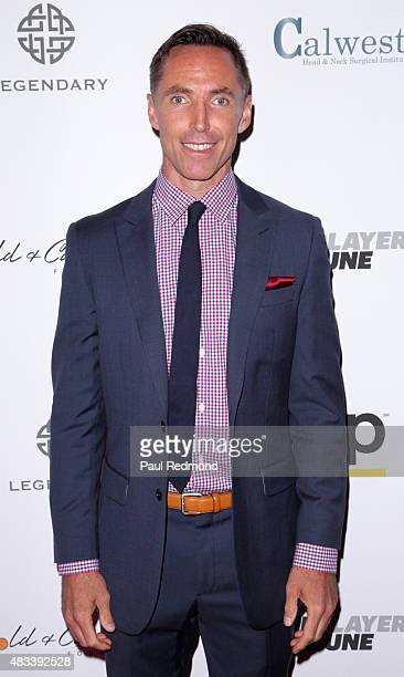 Basketball Player Steve Nash attends the 15th Annual Harold And Carole Pump Foundation Gala at the Hyatt Regency Century Plaza on August 7 2015 in...