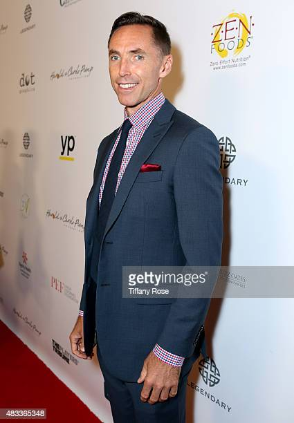 Basketball Player Steve Nash attends the 15th annual Harold Carole Pump Foundation gala at the Hyatt Regency Century Plaza on August 7 2015 in...