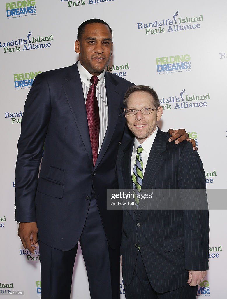 Basketball player Steve Smith and IMG VP Sandy Montag attend the 2014 Fielding Dreams gala at American Museum of Natural History on March 11 2014 in...