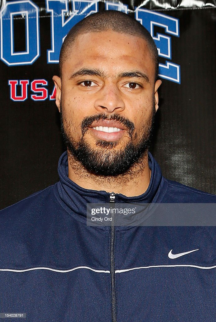 NBA basketball player <a gi-track='captionPersonalityLinkClicked' href=/galleries/search?phrase=Tyson+Chandler&family=editorial&specificpeople=202061 ng-click='$event.stopPropagation()'>Tyson Chandler</a> attends the Rookie USA Flagship Store Opening at Rookie USA on October 12, 2012 in New York City.