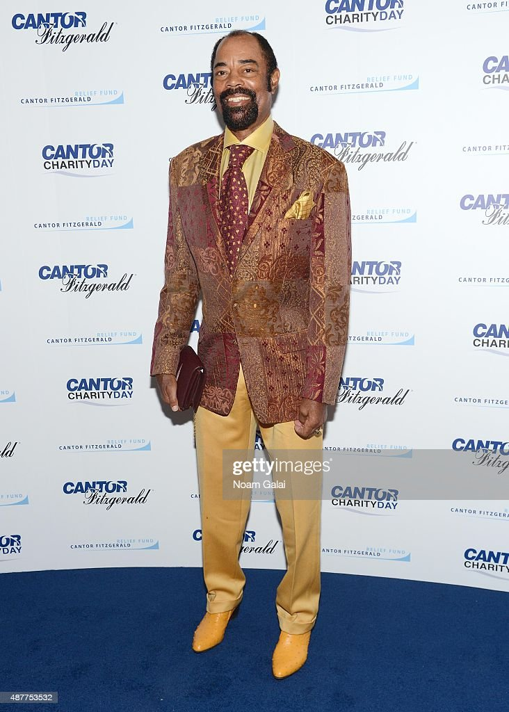 Basketball player Walt Frazier attends the annual Charity Day hosted by Cantor Fitzgerald and BGC at Cantor Fitzgerald on September 11 2015 in New...