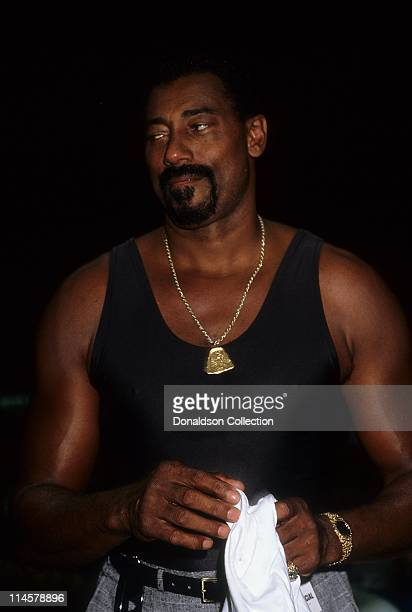 Basketball Player Wilt Chamberlain poses for a portrait in circa 1985 in Los Angeles California