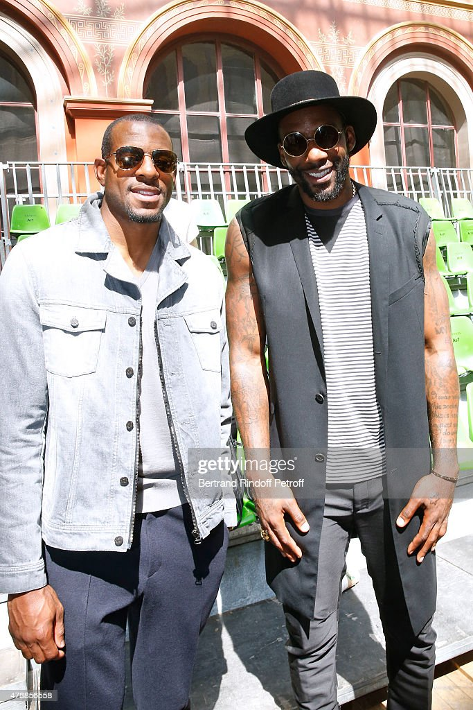 Basketball players Andre Iguodala and Amar'e Stoudemire attend the Lanvin Menswear Spring/Summer 2016 show as part of Paris Fashion Week. Held at 'Ecole Nationale Superieure des Beaux Arts' on June 28, 2015 in Paris, France.