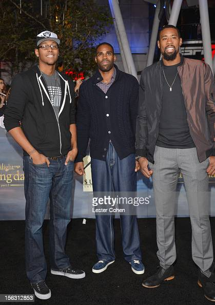 Basketball players Antawn Jamison and DeAndre Jordan arrive at 'The Twilight Saga Breaking Dawn Part 2' Los Angeles premiere at the Nokia Theatre LA...