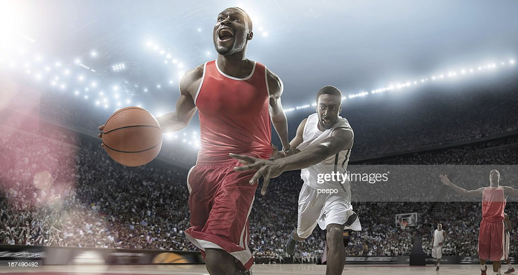 Basketball Players Need For Speed : Stock Photo