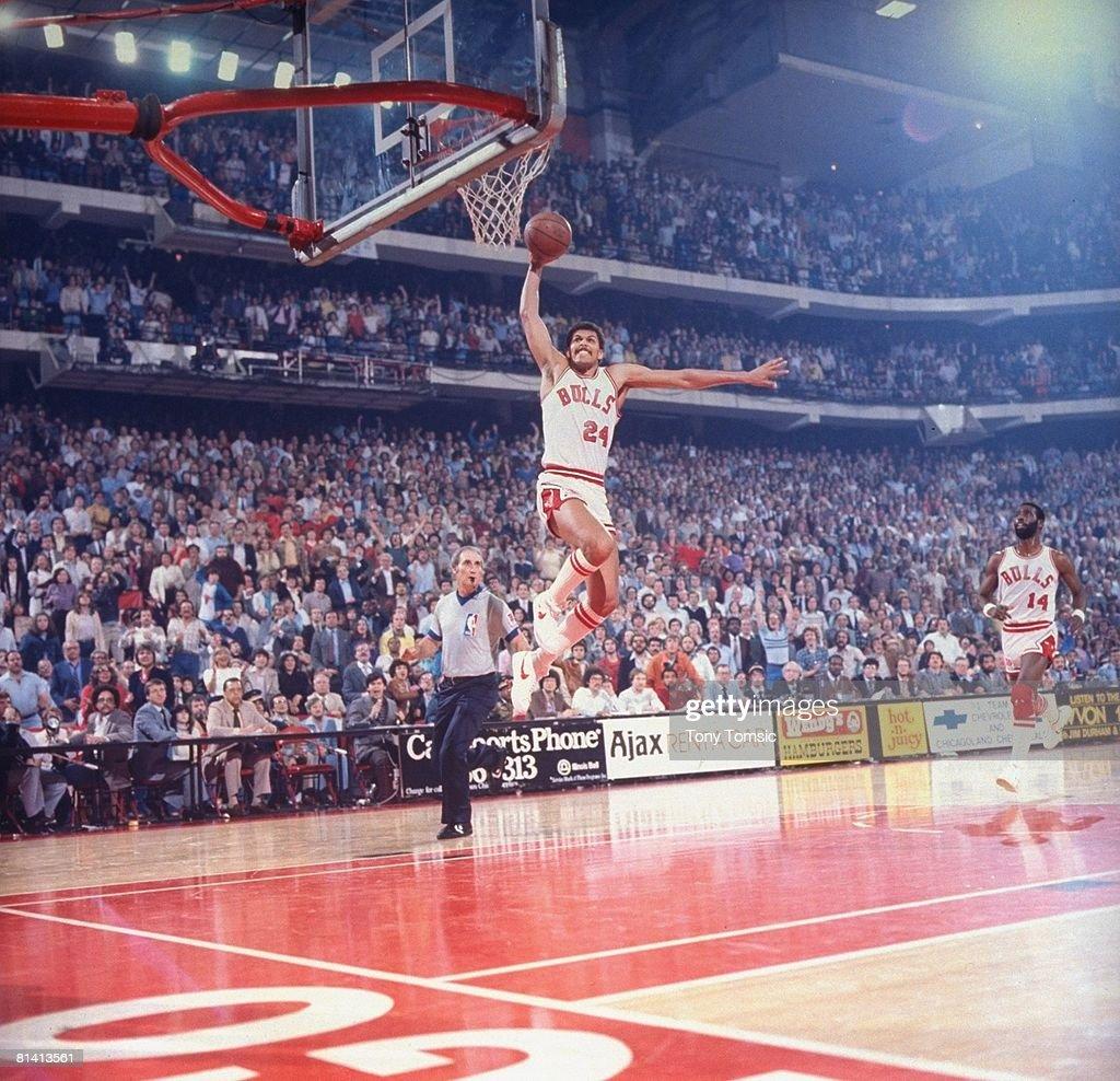 Chicago Bulls Reggie Theus 1981 Playoffs