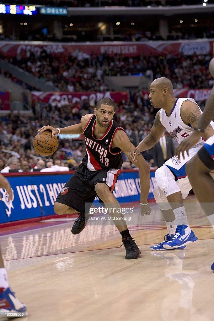 Portland Trail Blazers Nicolas Batum (88) in action vs Los Angeles Clippers at Staples Center. John W. McDonough F193 )