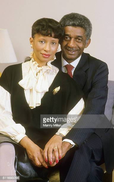 Portrait of Harlem Magicians Marques Haynes with his wife businesswoman Joan Haynes during photo shoot Chamblee GA CREDIT Manny Millan