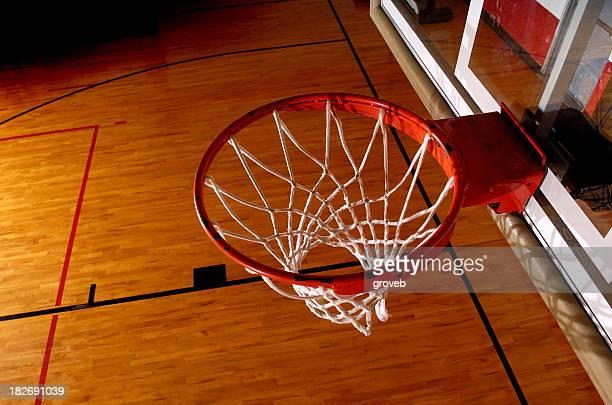 Basketball rim from overhead