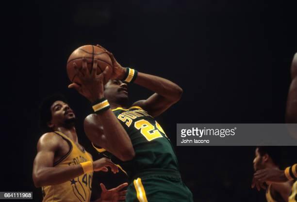 Seattle SuperSonics Spencer Haywood in action vs Golden State Warriors at OaklandAlameda County Coliseum Arena Oakland CA CREDIT John Iacono