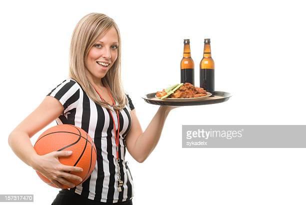 Basquetebol desporto de Empregada de Mesa