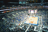Basketball stadium, elevated view