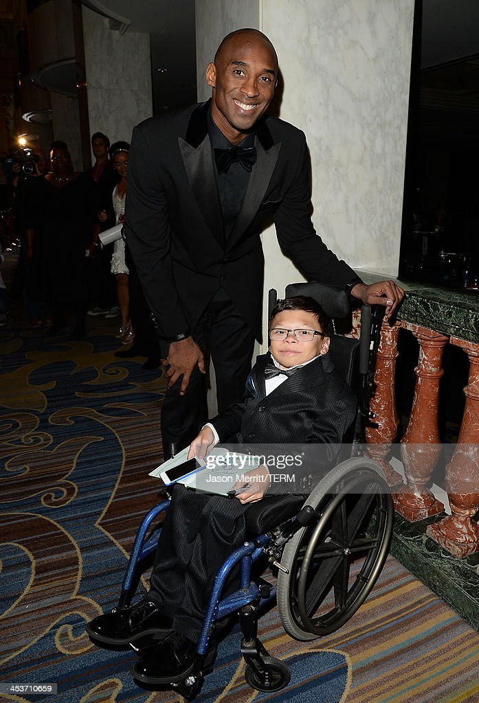 Basketball Star <a gi-track='captionPersonalityLinkClicked' href=/galleries/search?phrase=Kobe+Bryant&family=editorial&specificpeople=201466 ng-click='$event.stopPropagation()'>Kobe Bryant</a> attends the Make-A-Wish Greater Los Angeles 30th Anniversary Gala on December 4, 2013 in Los Angeles, California.