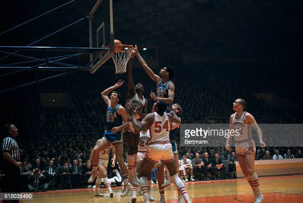 UCLA basketball star Lew Alcindor is shown in action against Houston in the NCAA Tournament