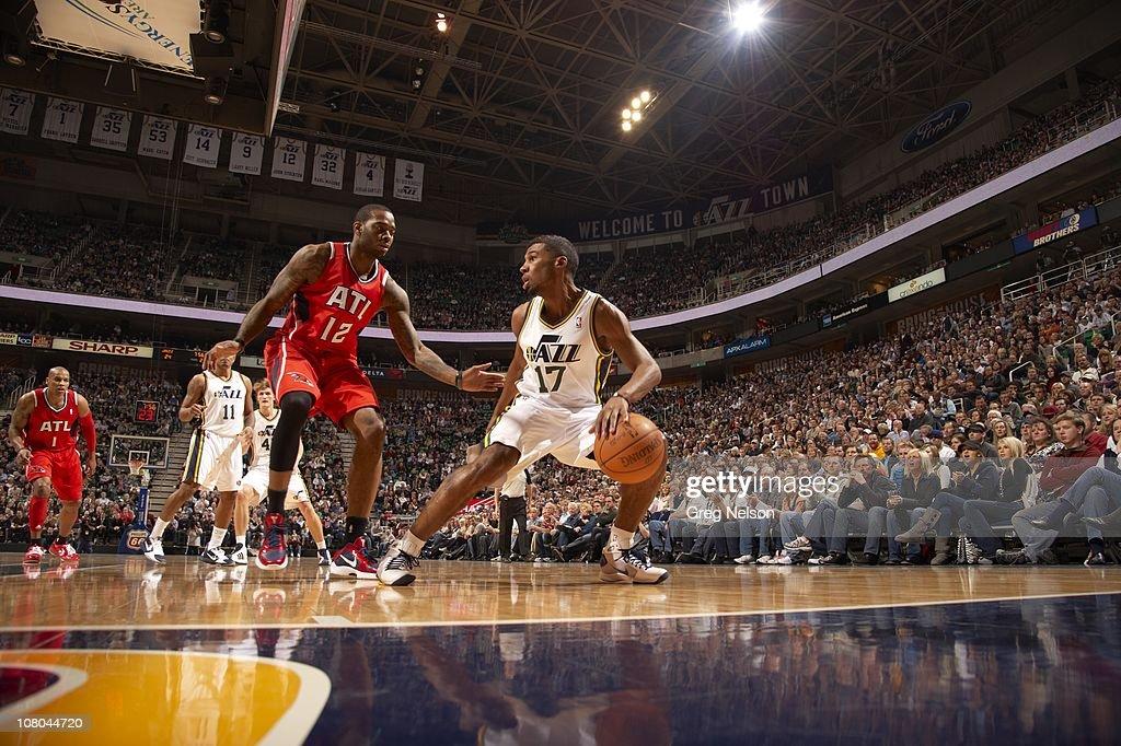 Utah Jazz Ronnie Price in action vs Atlanta Hawks at Energy Solutions ArenaSalt Lake City UT 1/5/2011CREDIT Greg Nelson
