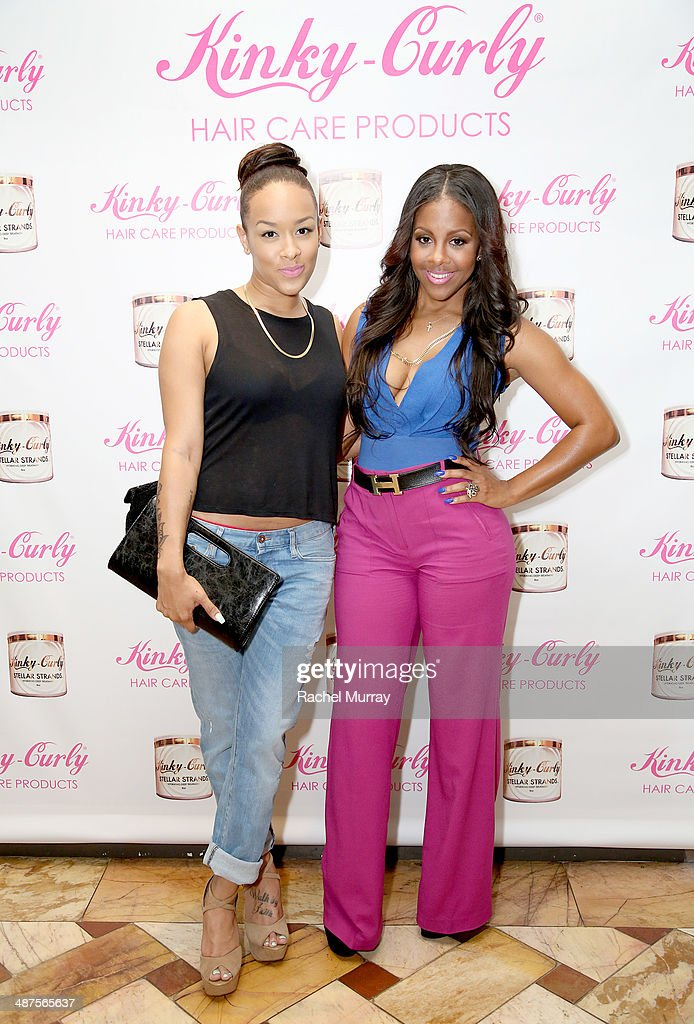 Basketball Wives LA star Chantel Christie (L) and Miss Diddy attend the Kinky-Curly 'Sneak Peek' event at the Four Seasons Hotel Los Angeles on April 30, 2014 in Beverly Hills, California.