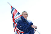 Basketballer Lauren Jackson poses after being announced as the Australian flag bearer at the Australian Olympic Committee 2012 Olympic Games team...