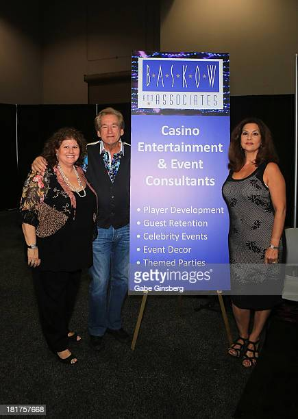 Baskow and Associates chief executive officer Jaki Baskow musican Bill Champlin and his wife singer Tamara Champlin at the Global Gaming Expo at the...