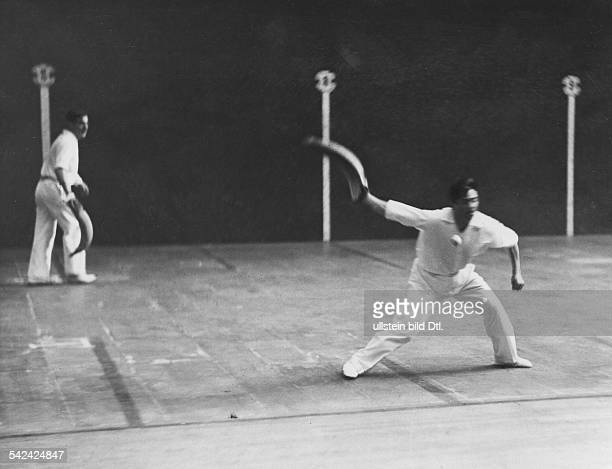 Basque pelota two player during the play Photographer Martin Munkacsi Published by 'Berliner Illustrirte Zeitung' 26/1930 Vintage property of...