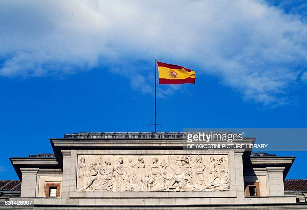 Basrelief Velazquez Gate Museo del Prado Madrid Spain