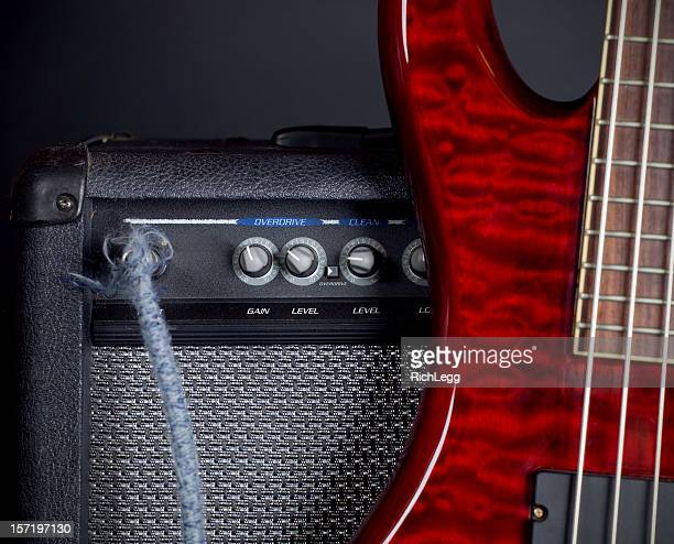 Bass Guitar and Amplifier