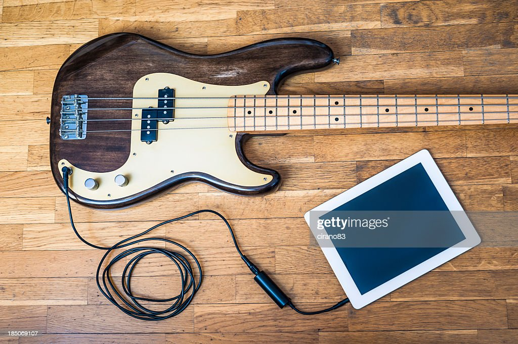 Bass Guitar With Digital Tablet