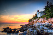 A beautiful sunset @ Bass Harbor, Acadia National Park, Maine, USA