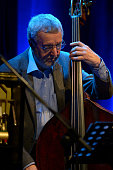 Bass player Dave Green South Coast Jazz Festival Ropetackle arts centre Shoreham by sea West Sussex United Kingdom 22nd January 2016