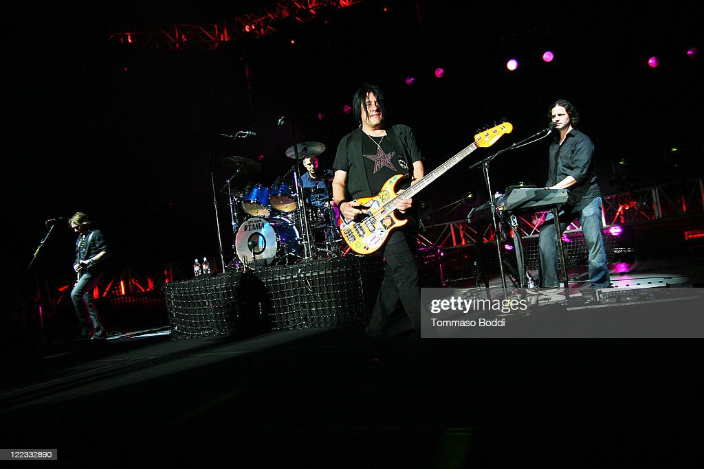 Bass Player Robby Takac performs at the Greek Theatre on August 27, 2011 in Los Angeles, California.