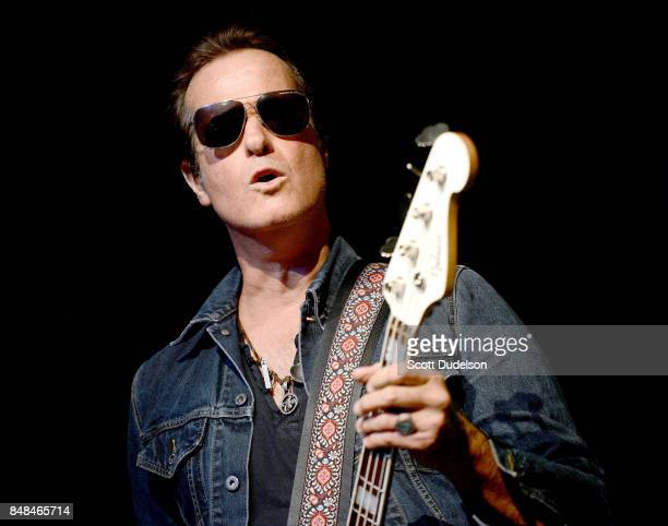 Bass player Robert DeLeo of Stone Temple Pilots performs onstage during the second annual Rock for Recovery benefit concert at The Fonda Theatre on...