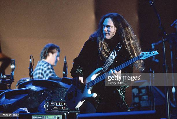 Bass player Timothy B Schmit plays with The Eagles on their 'Hell Freezes Over' tour of 1995 The Eagles were the most popular band of the seventies...
