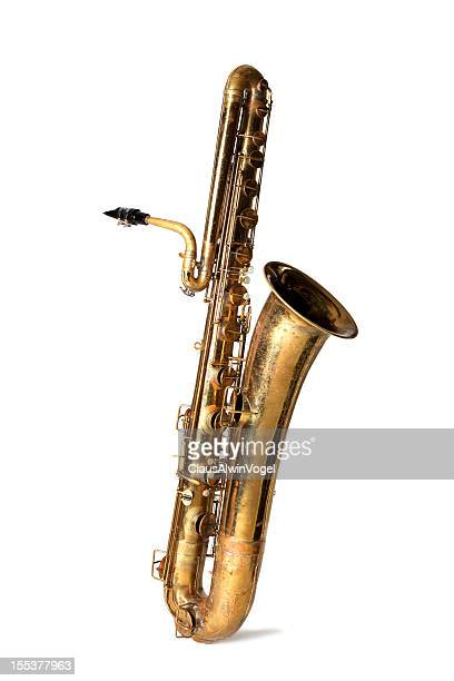 Bass saxophone isolated