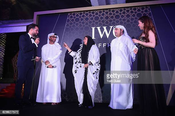 Bassel Alzaro Abdullah Hassan Ahmed director Nujoom AlGhanem director and Hafiz Ali Ali director and Raya Abirached TV host of Scoop and IWC Brand...