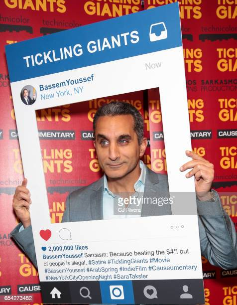 Bassem Youssef attends 'Tickling Giants' New York premiere at IFC Center on March 16 2017 in New York City