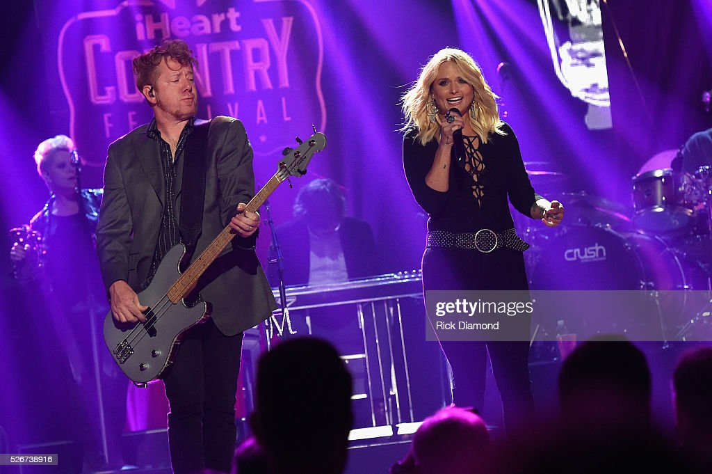 Singer Miranda Lambert (R) performs onstage during the 2016 iHeartCountry Festival at The Frank Erwin Center on April 30, 2016 in Austin, Texas.