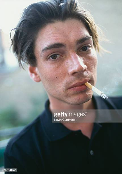 Bassist Alex James of English rock band Blur in London 1995