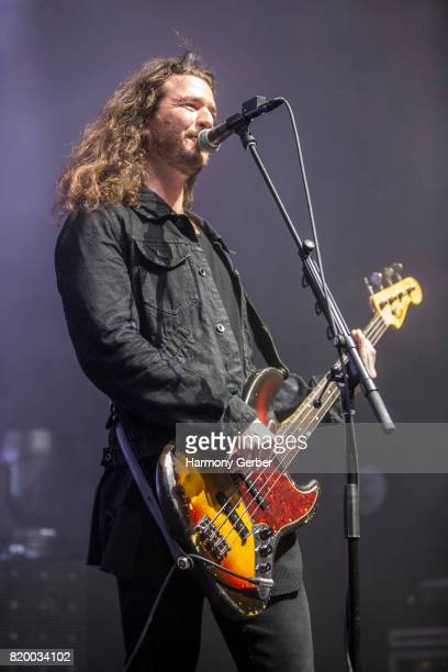 Bassist Alex LeCavalier of Third Eye Blind performs at The Greek Theatre on July 20 2017 in Los Angeles California