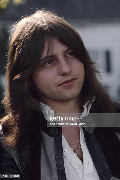Bassist and composer Greg Lake of progressive rock group Emerson Lake and Palmer poses for a portrait in August 1971 in Danbury Connecticut
