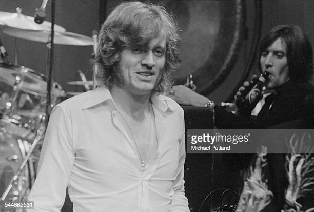 Bassist and keyboard player John Paul Jones on stage with British heavy rock group Led Zeppelin at Earl's Court London May 1975 The band were...