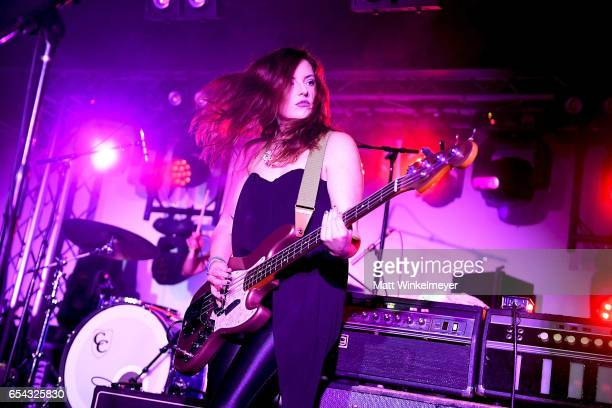 Bassist Ashley Graves of Two Lips performs during the Spoon SXSW Residency 2017 SXSW Conference and Festivals on March 16 2017 in Austin Texas