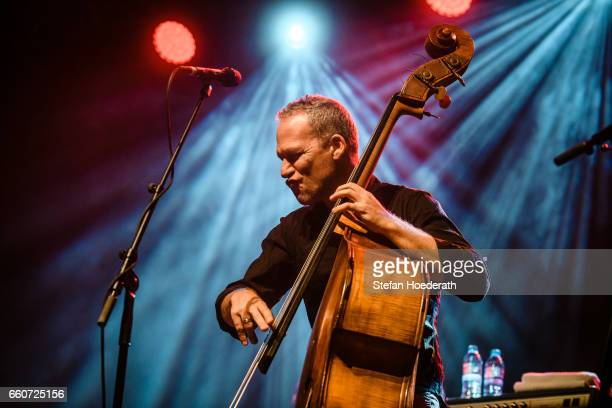 Bassist Avishai Cohen performs live on stage during a concert at Huxleys Neue Welt on March 30 2017 in Berlin Germany