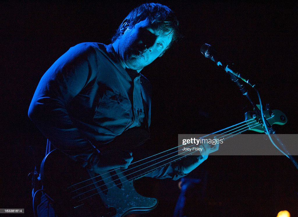 Bassist Ben McKee of Imagine Dragons performs at the Egyptian Room at Old National Centre on February 28, 2013 in Indianapolis, Indiana.