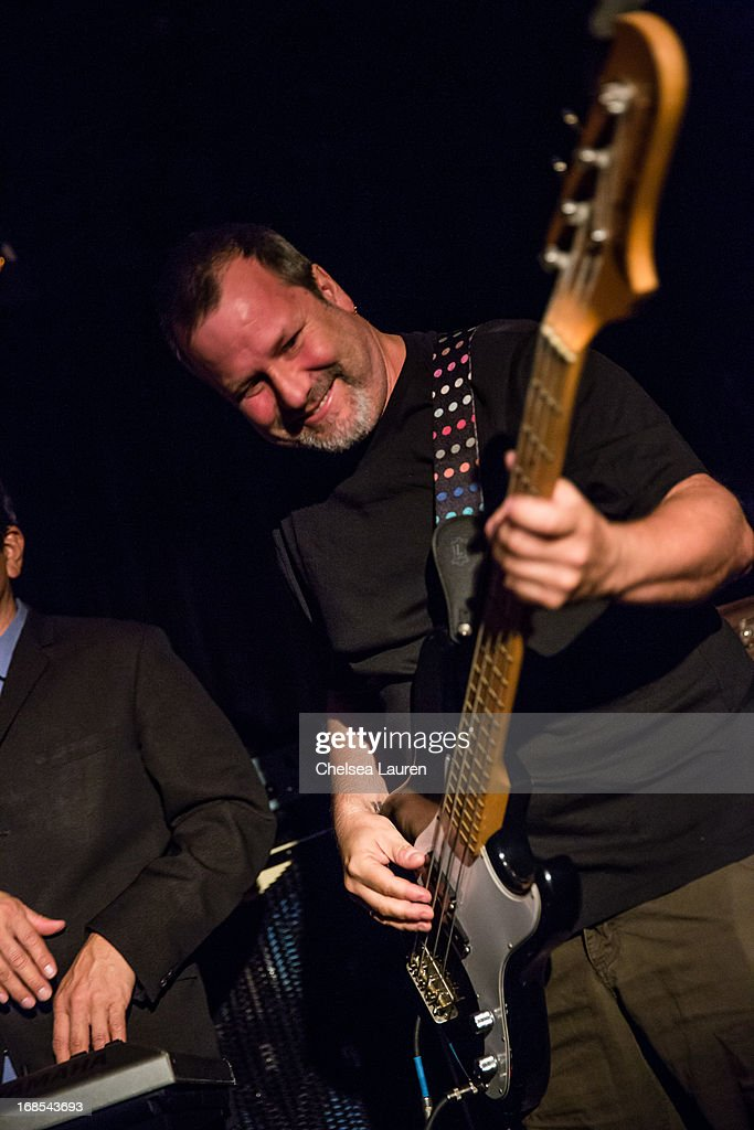 Bassist Billy Gould of Faith No More performs with Mexican Dubwiser at Viper Room on May 10, 2013 in West Hollywood, California.