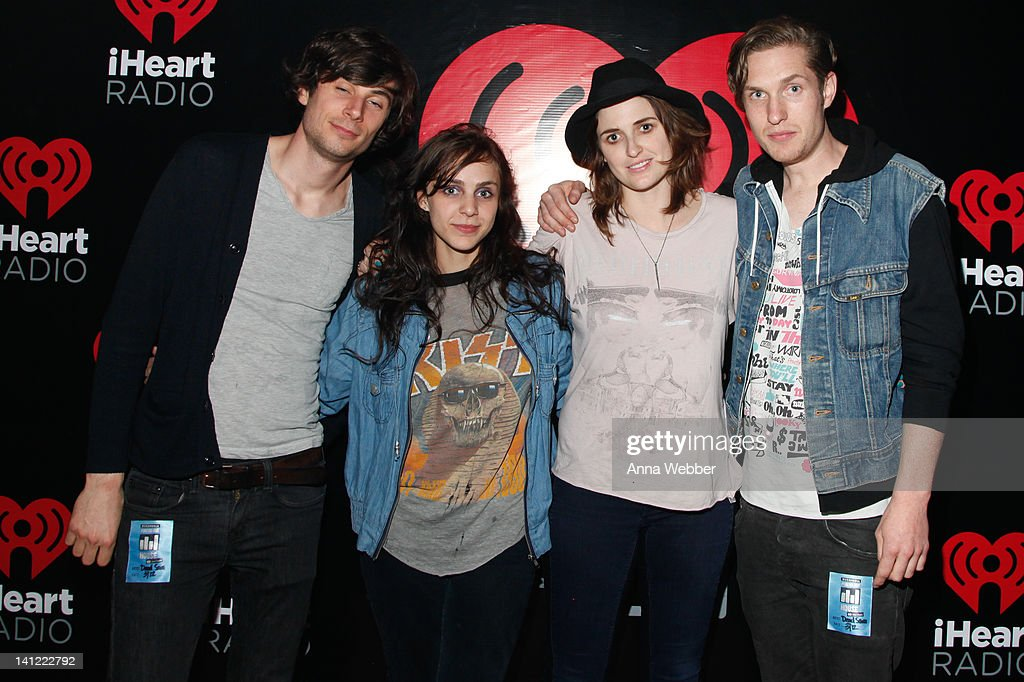 Bassist Chris Null, Guitarist Sioxsie Medley, Singer Emily Armstrong and Drummer Sean Friday of Sead Sara arrive to iHeartRadio Live: After Hours At BUZZMEDIA PureVolume House Presented By iHeartRadio on March 12, 2012 in Austin, Texas.