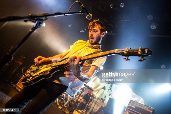 Bassist Chris Null of Dead Sara performs at El Rey Theatre on May 9 2013 in Los Angeles California