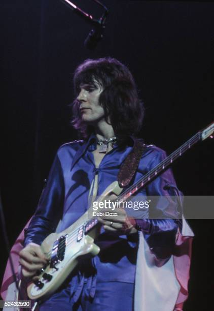 Bassist Chris Squire of British progressive rock group Yes on stage at the Rainbow Theatre London December 1972