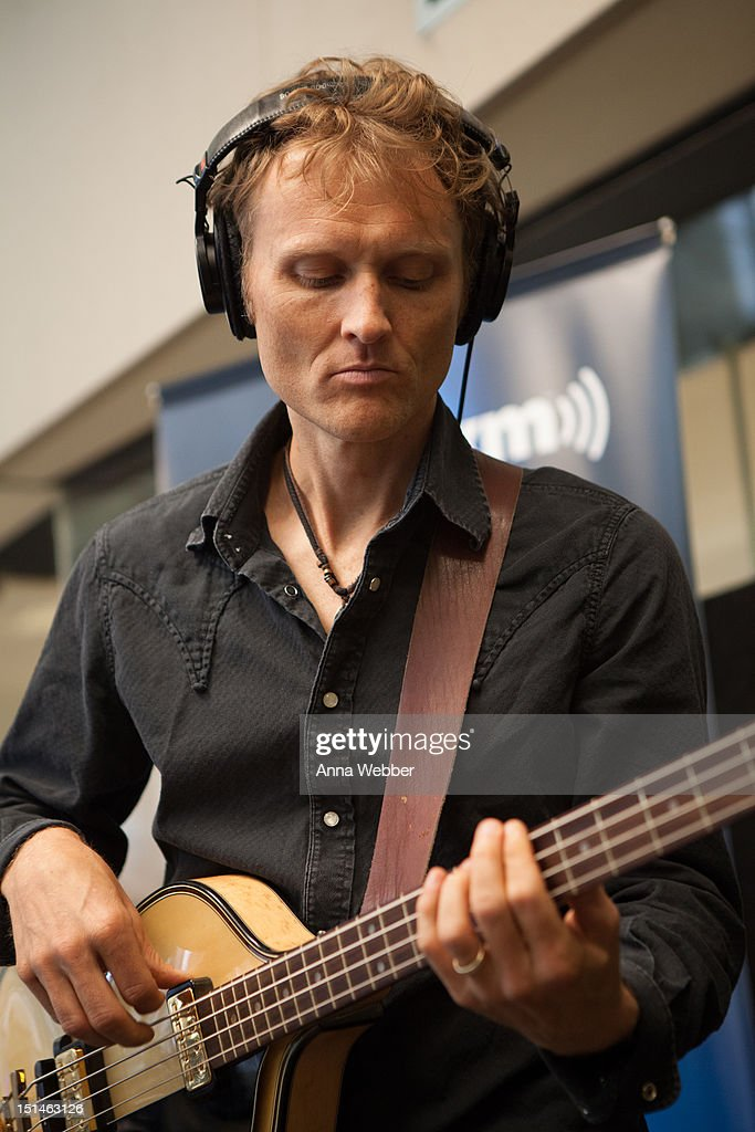 Bassist <a gi-track='captionPersonalityLinkClicked' href=/galleries/search?phrase=Chris+Wood+-+Jazz+Musician&family=editorial&specificpeople=4601134 ng-click='$event.stopPropagation()'>Chris Wood</a> of Medeski, Martin & Wood performs during Medeski, Martin & Wood on SiriusXM's Jam_On and Real Jazz channels in the SiriusXM studios on September 7, 2012 in New York City.