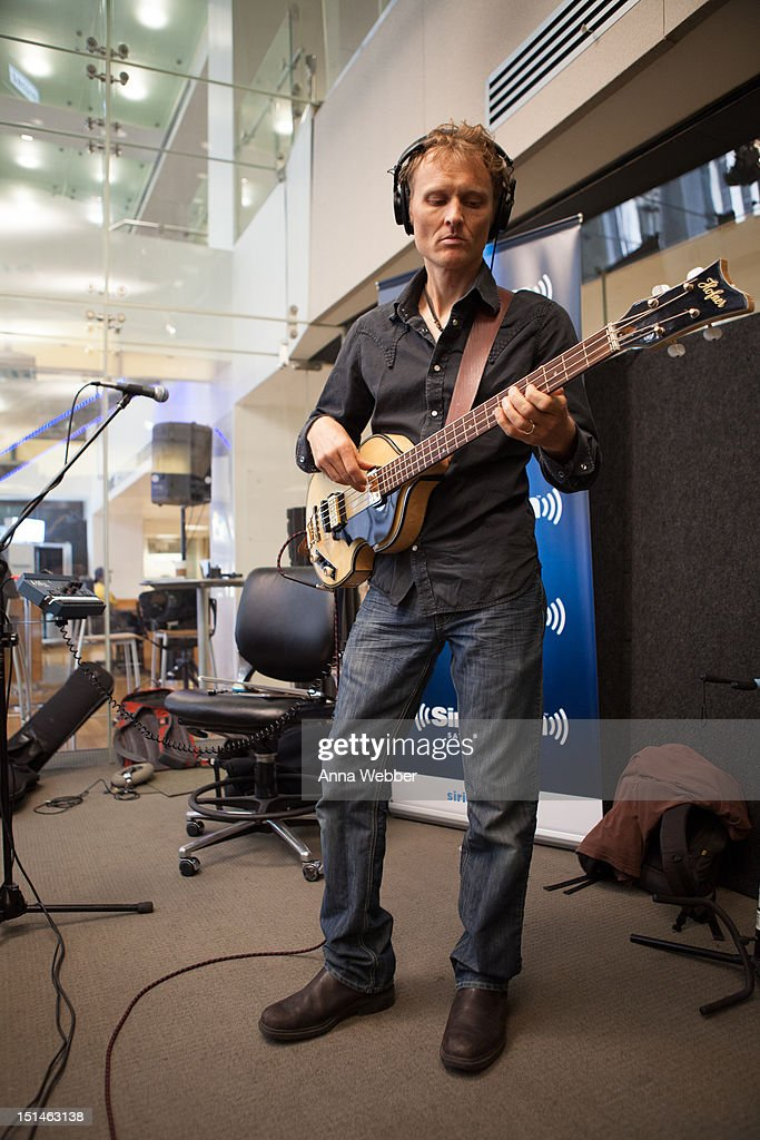 Bassist <a gi-track='captionPersonalityLinkClicked' href=/galleries/search?phrase=Chris+Wood+-+Guitariste&family=editorial&specificpeople=4601134 ng-click='$event.stopPropagation()'>Chris Wood</a> of Medeski, Martin & Wood performs during Medeski, Martin & Wood on SiriusXM's Jam_On and Real Jazz channels in the SiriusXM studios on September 7, 2012 in New York City.