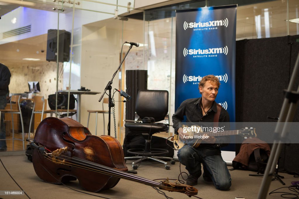 Bassist <a gi-track='captionPersonalityLinkClicked' href=/galleries/search?phrase=Chris+Wood+-+Gitarrist&family=editorial&specificpeople=4601134 ng-click='$event.stopPropagation()'>Chris Wood</a> of Medeski, Martin & Wood performs during Medeski, Martin & Wood on SiriusXM's Jam_On and Real Jazz channels in the SiriusXM studios on September 7, 2012 in New York City.